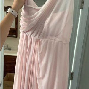 Blush David's Bridal Bridesmaid Dress